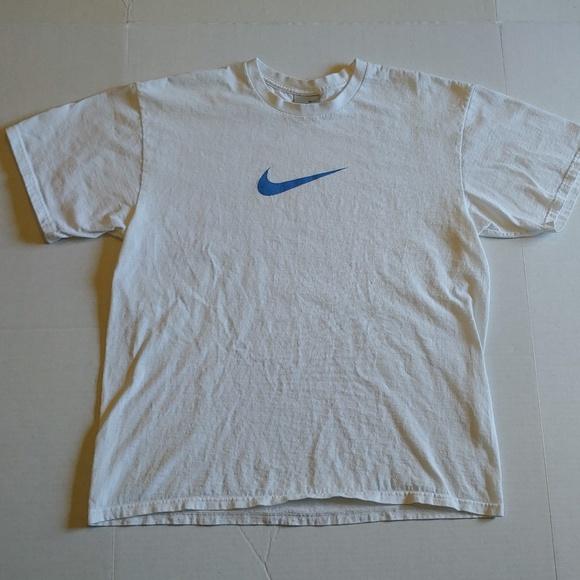 b4a209b0e8369 Vintage(2000's)Nike blue swoosh tee